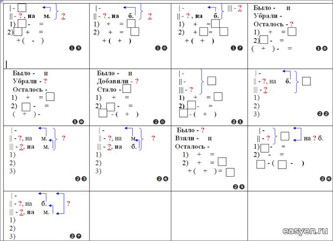 Схемы к задаче. 2 класс